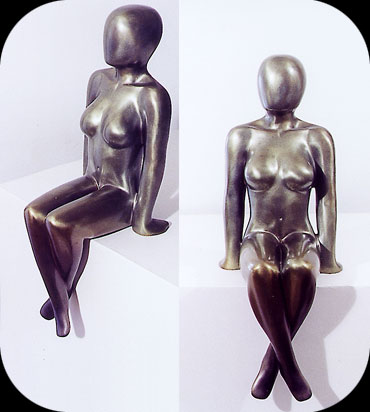 Poolside, bronze sculpture by Christopher Rebele