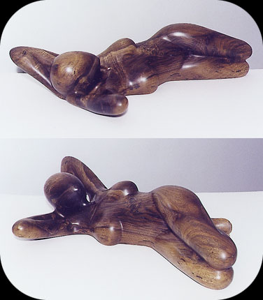 Saturday Morning - walnut sculpture by Christopher Rebele